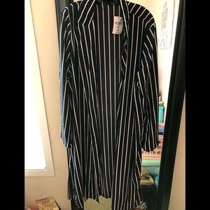 Striped duster jacket